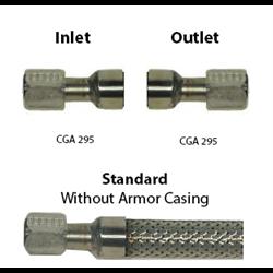 Cryo Hose 3/4 ID CGA 295 Ends, Common Lengths